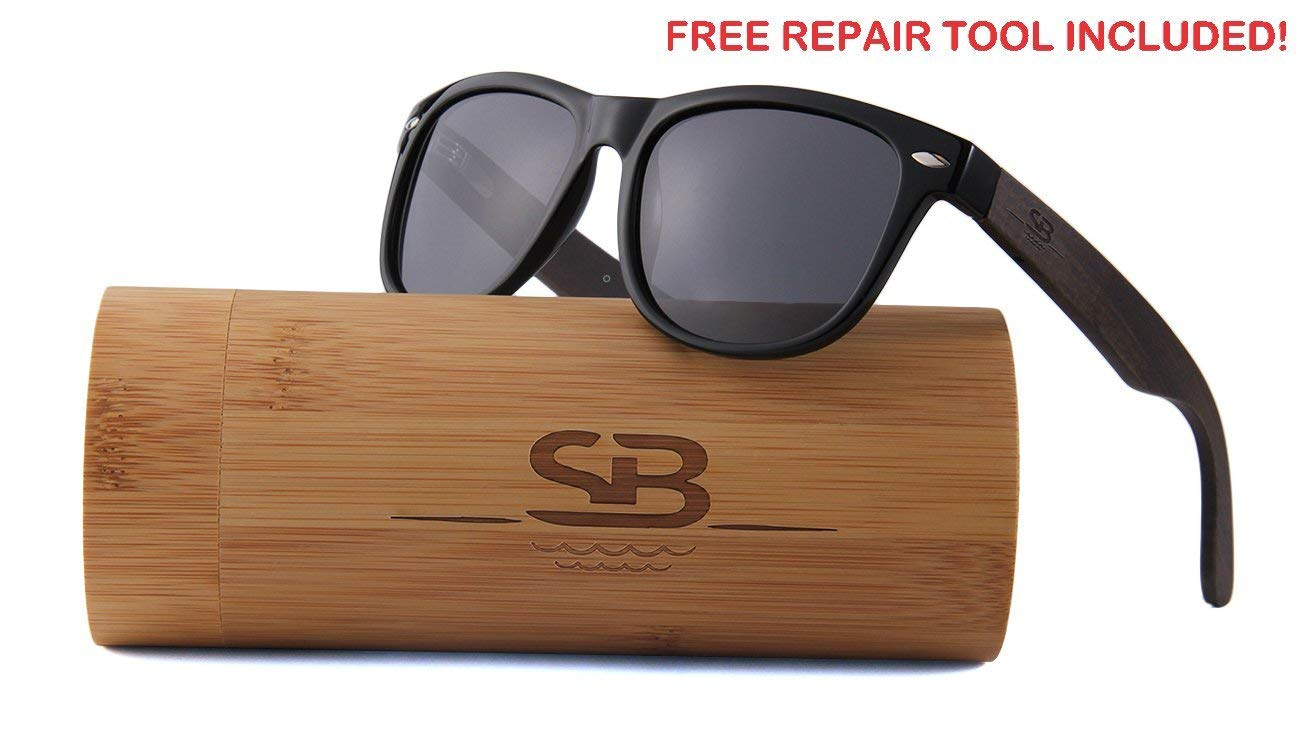 Polarized Bamboo Sunglasses - Eco-Friendly, Made For Men and Women, UV400 Protection, Light weight, free repair tool included - ShoppBoss