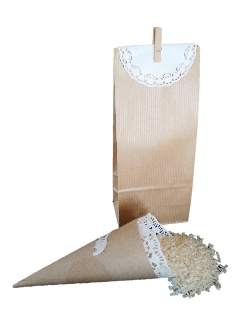 Conjunto Boda con Conos para arroz y bolsas para detalles (25)