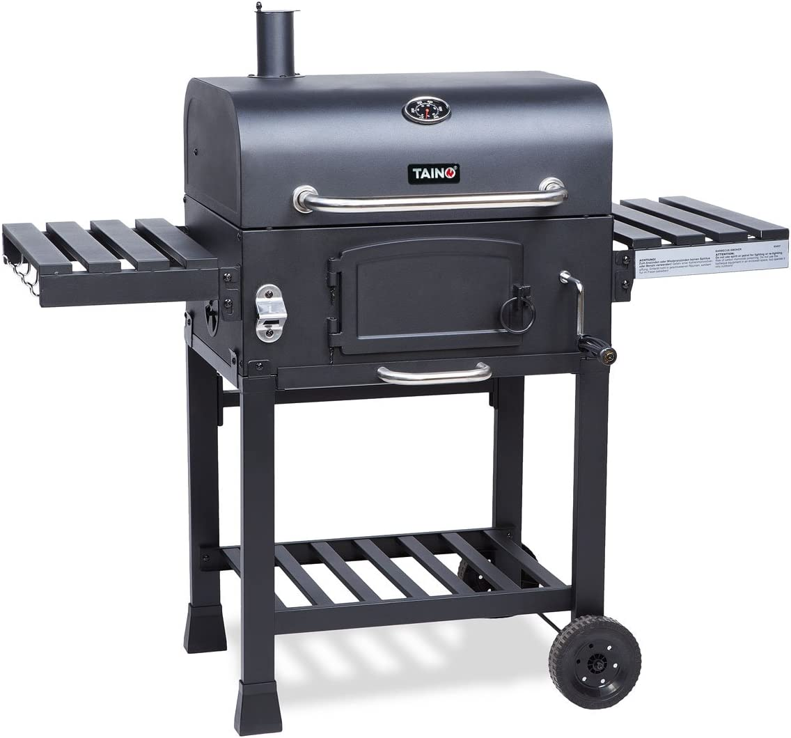 Holzkohlegrill BBQ Holzkohle Barbecue Smoker Grill Gartengrill Grillwagen B-Ware