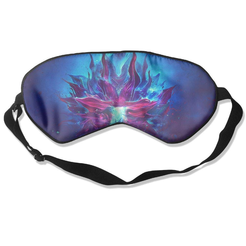 Abstraction Patterns Lines Light Silk Sleep Eye Mask Flexible & Breathable Eyeshade With Adjustable Strap