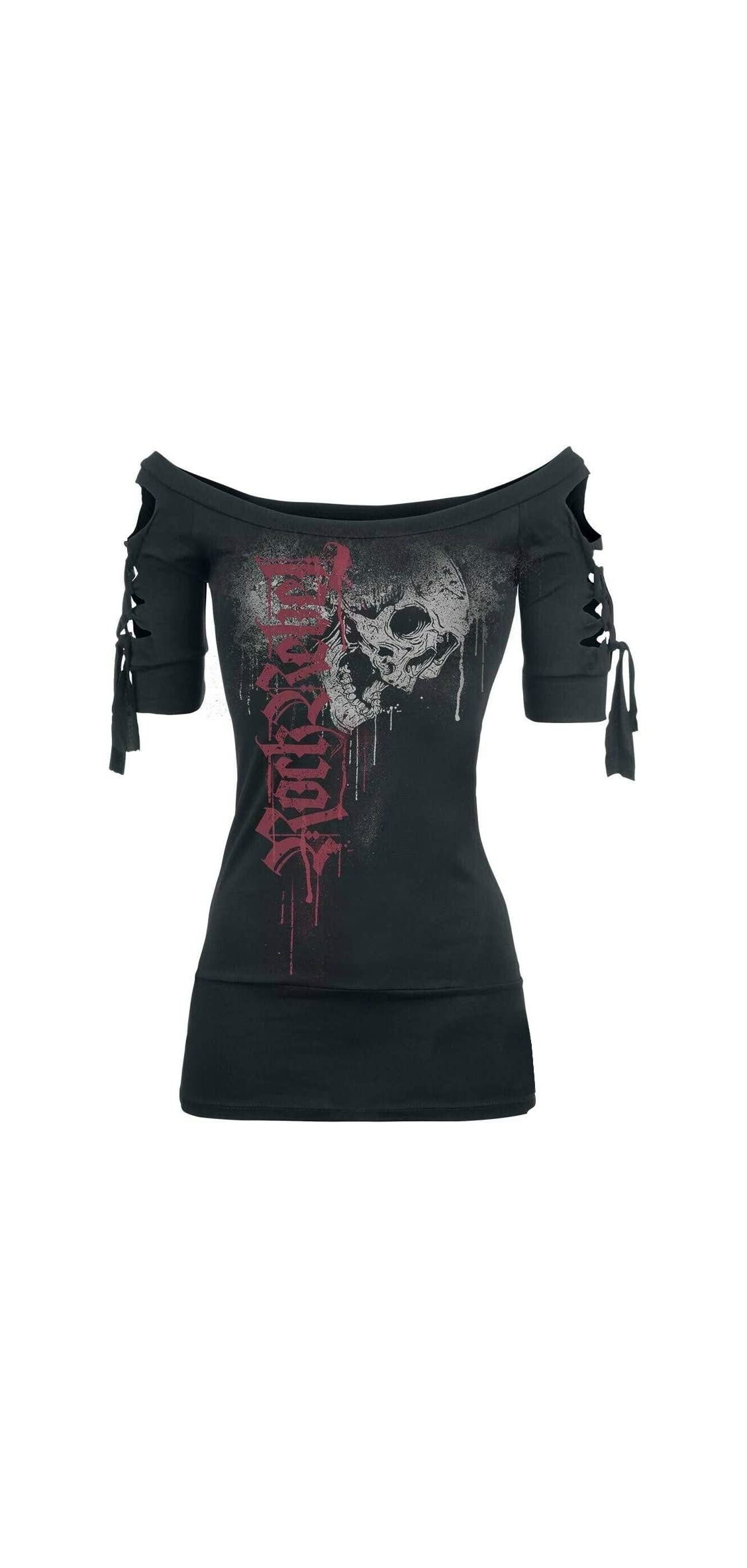 Big Sale  Women's Fashion Skull Printed Cool Black