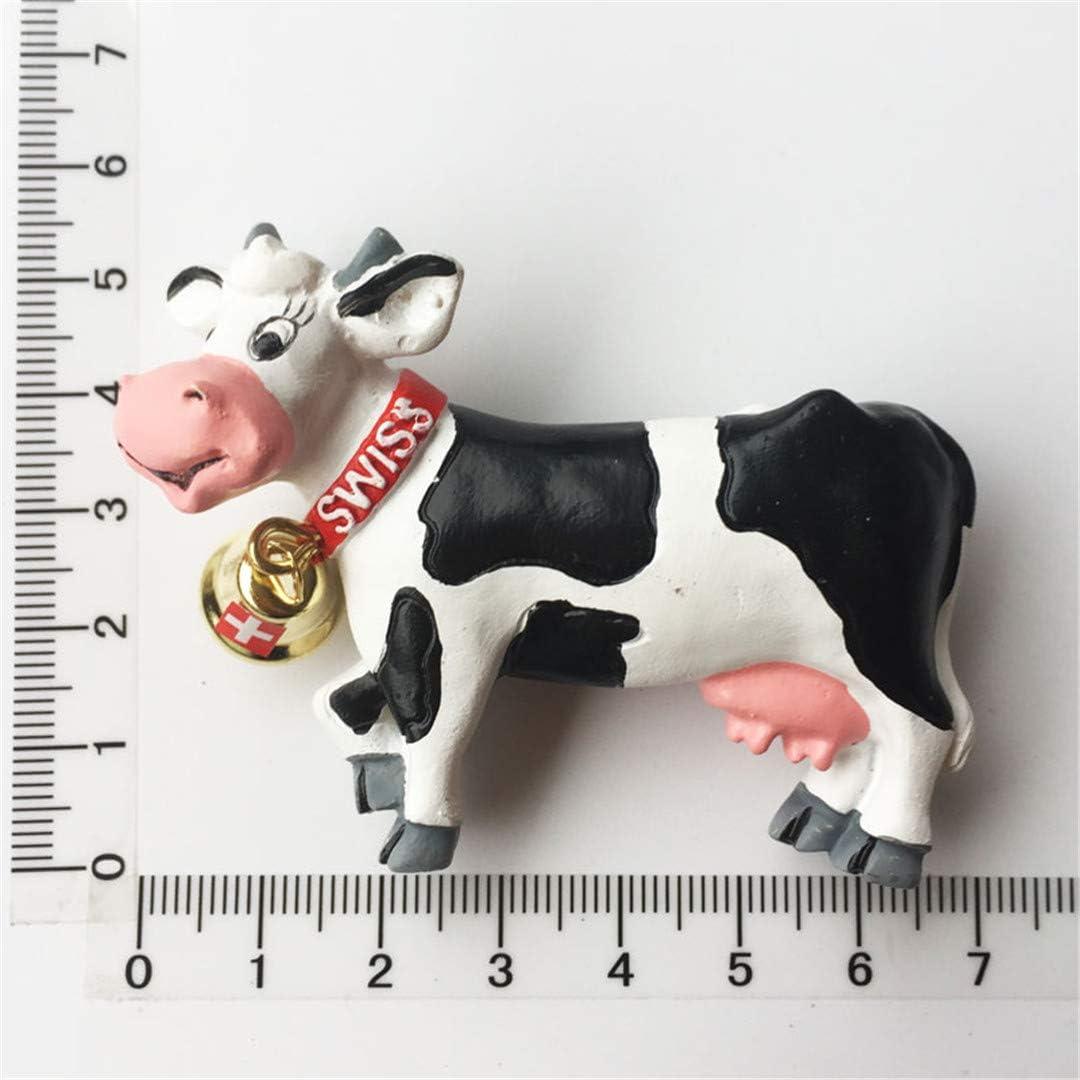 Cow Bell Switzerland 3D Fridge Magnet Resin Handmade Craft Tourist Travel City Souvenir Collection Letter Refrigerator Sticker