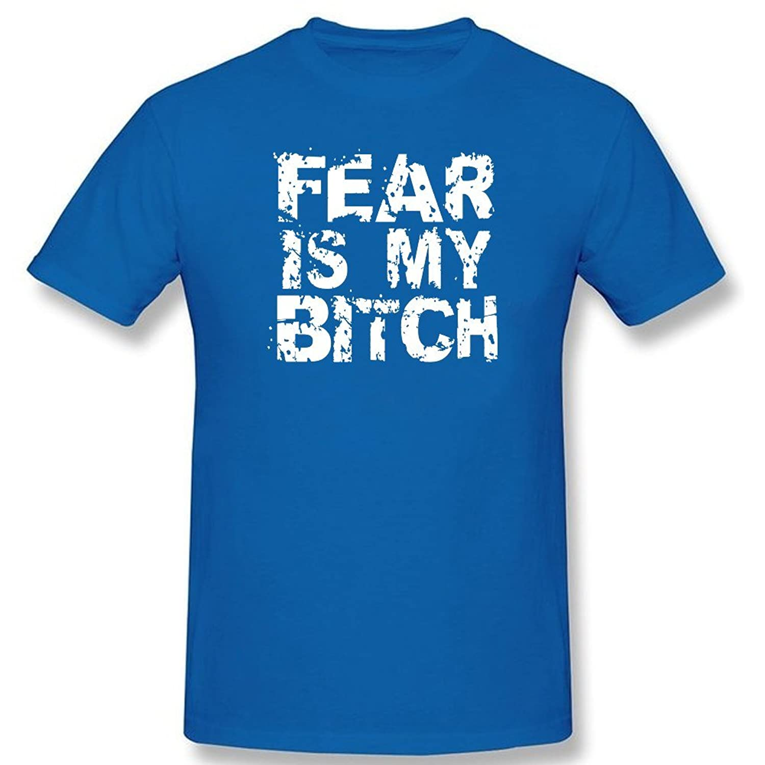 HARRYS Fear Is My Bitch T shirt Customize Short sleeve Blue
