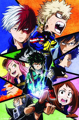 Trends International My Hero Academia-Faces Wall Poster, 22.375