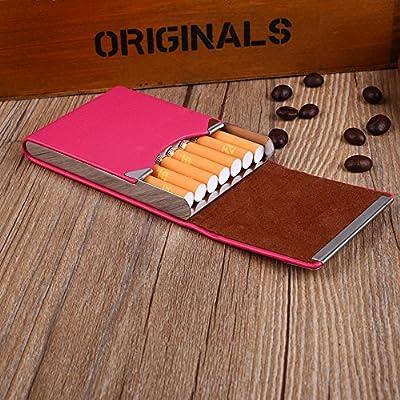 Tiptiper Caja de cigarrillos, caja de cigarros de cuero de la PU ...