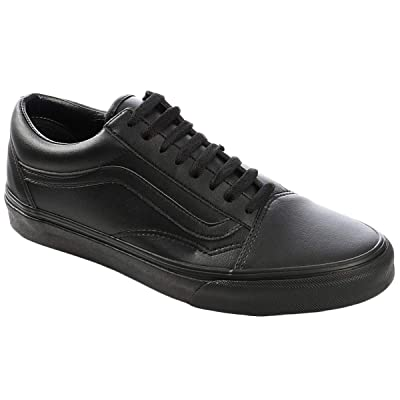 Vans VN-0A38G1PXP: Mens Old Skool Classic Black Mono Sneakers (5 D(M) US Men) | Oxfords