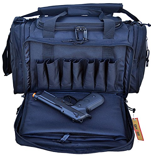 Explorer Large Padded Deluxe Tactical Range Bag   Rangemaster Gear Bag  Black