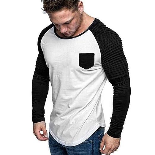 ღLILICATღ Camisa de Vestir para Hombre Camisa de Empalme de ...