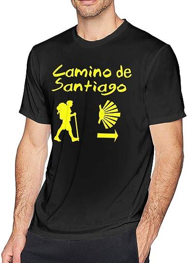 Camino De Santiago Compostela - Camisetas de manga corta para hombre: Amazon.es: Ropa y accesorios