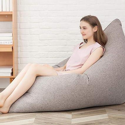 Fantastic Amazon Com Bean Bag Chair Beanbag Floor Cushion Grey Giant Machost Co Dining Chair Design Ideas Machostcouk
