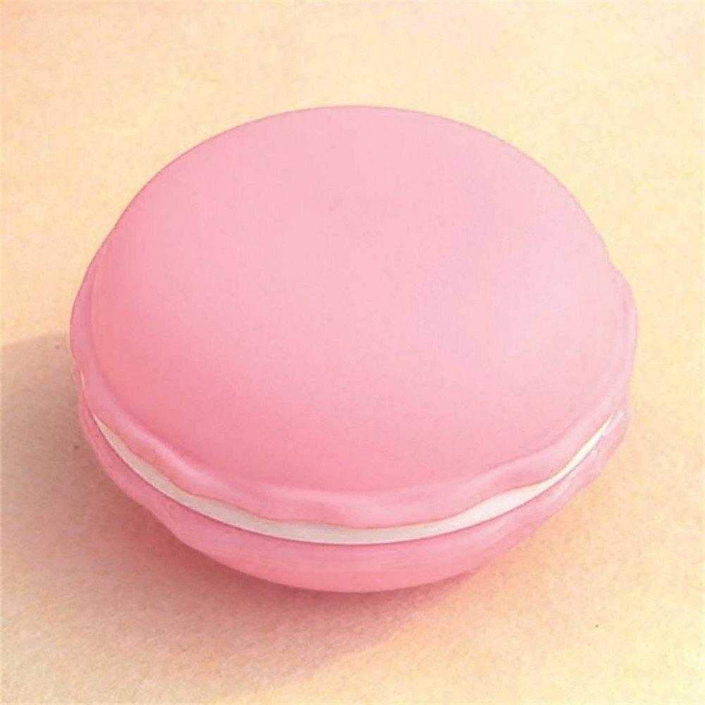 Tuscom Hot 1 Pcs Cute Macaron Modeling Small Storage Box,for Mini Earphone Earrings,Rings,Beads Pills Carrying Pouch,4X 2.5 cm Mini Storage Box (6 Colors) (Pink)
