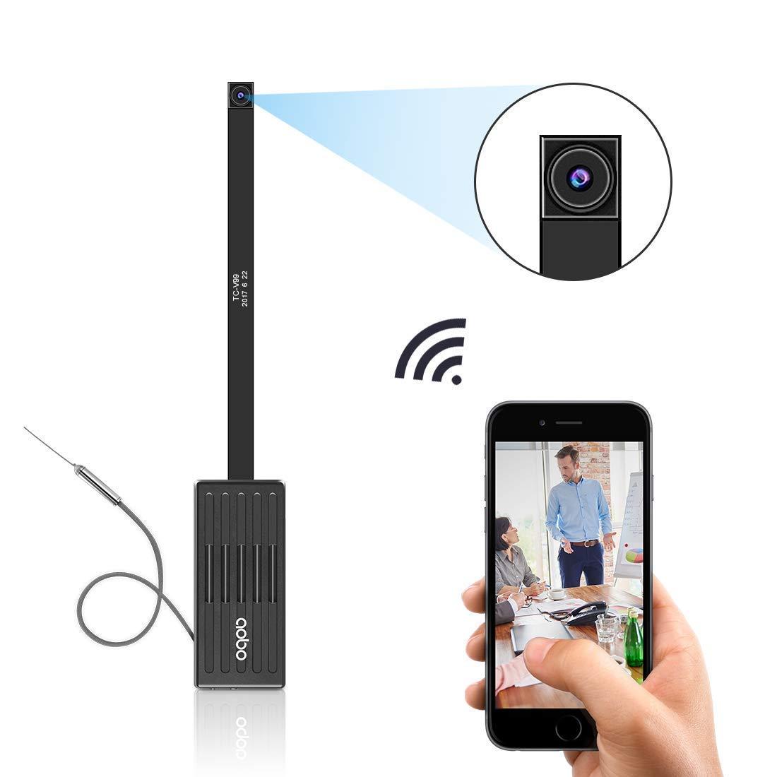 Cámara oculta Aobo inalámbrica por wifi, con detección de movimiento, grabación en 1080P HD, para móviles iPhone, Android, tabletas y ordenadores: ...