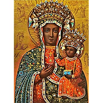 Black Madonna of Czestochowa POSTER A4//A3 Our Lady Polish Madonna print Catholic wall art religious pictures images