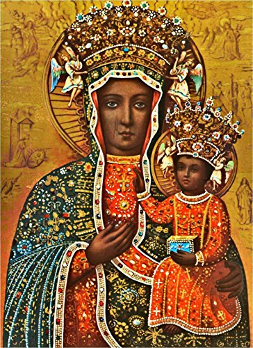 Black Madonna Poland Our Lady of Czestochowa Polish Madonna print POSTER A3 Religious Catholic pictures Christian Holy Wall Art Decor for Home Room (Free Pictures Catholic)