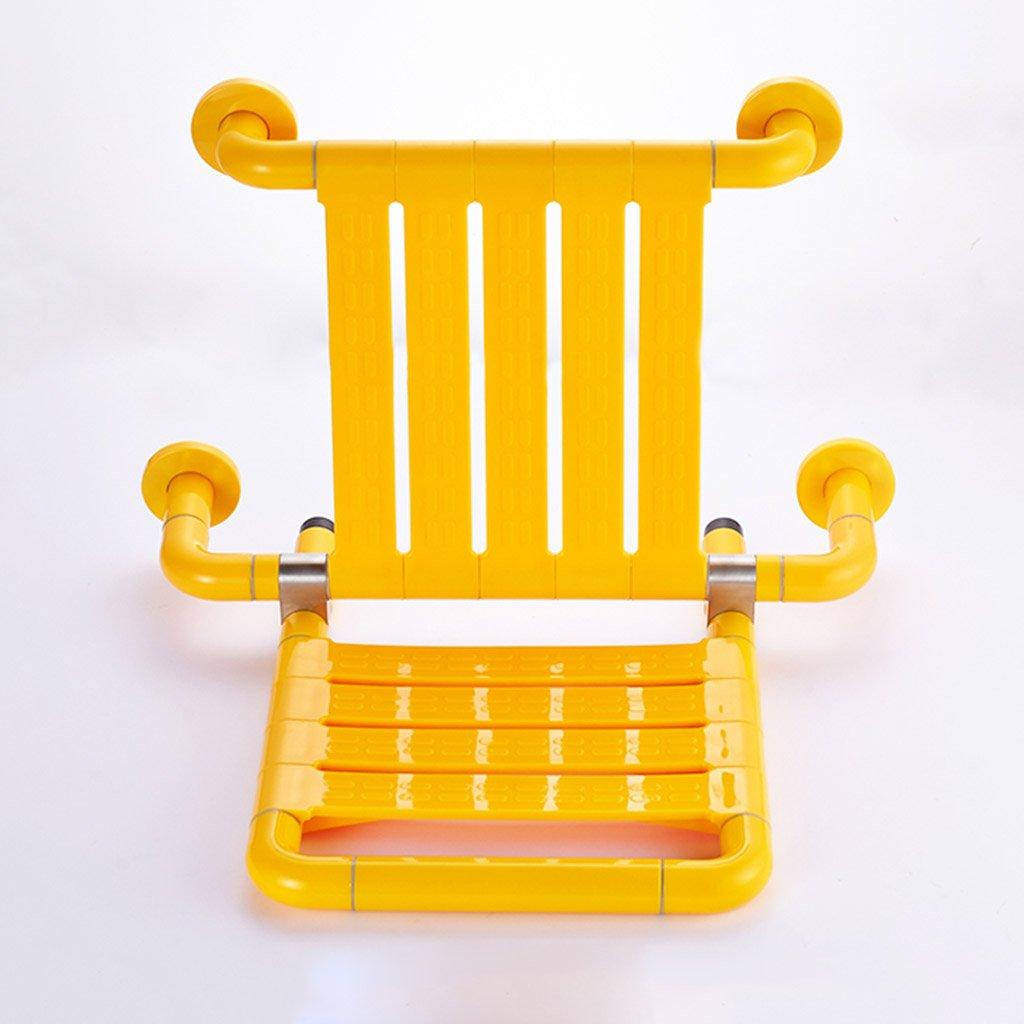 WSSF- シャワーチェア 高齢者の安全性ノンスリップシャワー椅子黄色のバスルームトイレ妊娠中の女性バリアフリーの多機能寝具浴 B07B7M1BWR