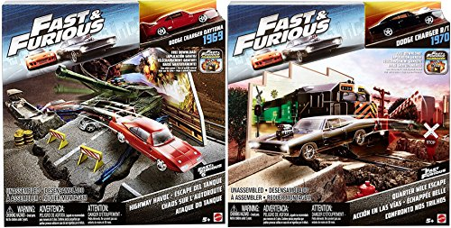 2017 Fast & Furious Street Scenes Frozen Missile Attack Vehicle The Fate of the Furious & Fast & Furious 6 Highway Havoc Dodge Charger Daytona 1969 Vehicle Action 2-Pack (Fast Attack Vehicle)