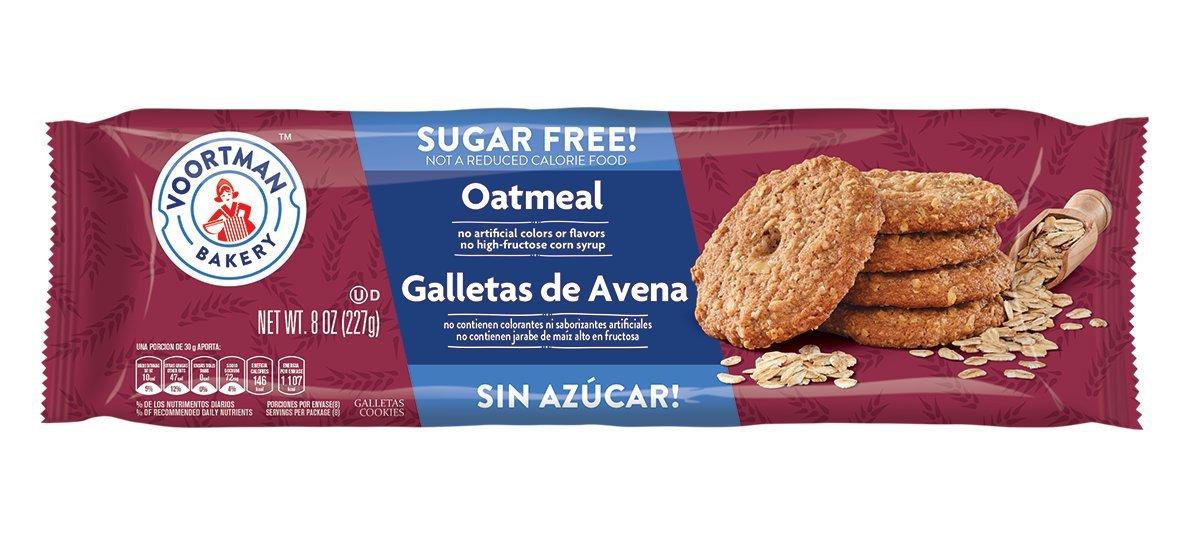 Voortman Sugar Free Natural Cookies Oatmeal Pack Of 1 Amazonco