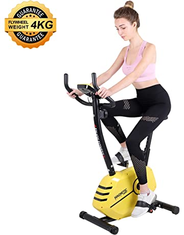 Beliwin Exercise Bike Home 8 Level Magnetic Resistance with Adjustable Seat Height and LCD Monitor for Home Office