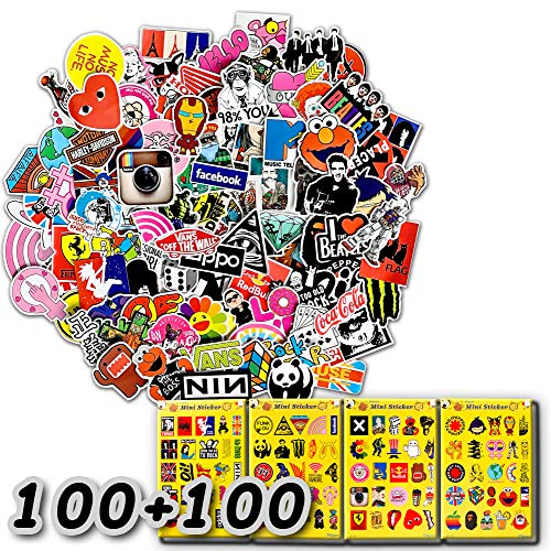 200-Pcs The Double-Satisfied Enhanced Version Of The Sticker, Doubled The Satisfaction. Lead Time Only 1-2 Days. Vinyl Stickers Are Suitable For Laptops, Cars, Motorcycles, Bicycles, Skateboards, And Luggage. (Double Reinforcement)