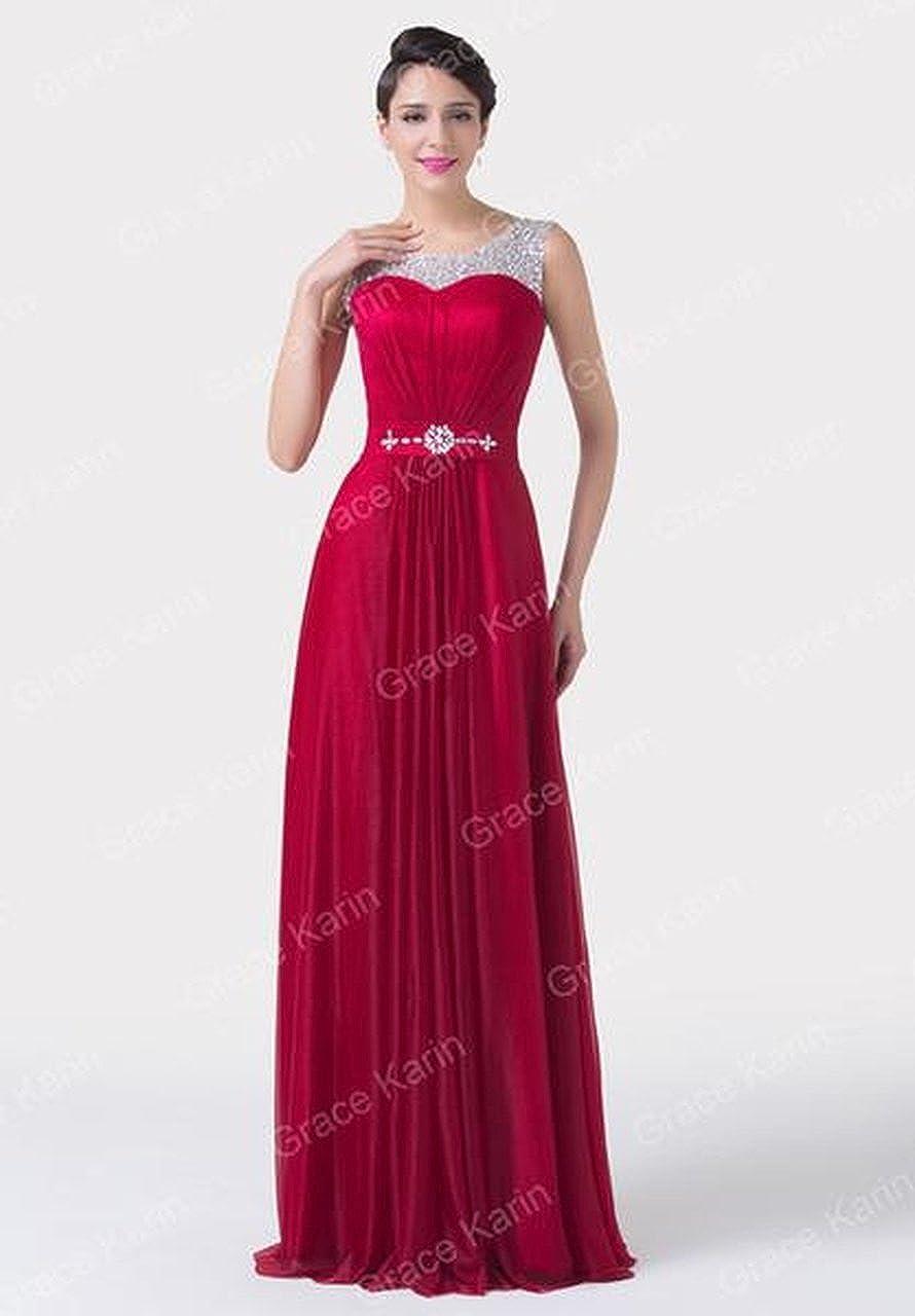 fea57c0d9bb33 Luxury Burgundy Evening Dresses 2017 Stylish Korean Crystal Long ...