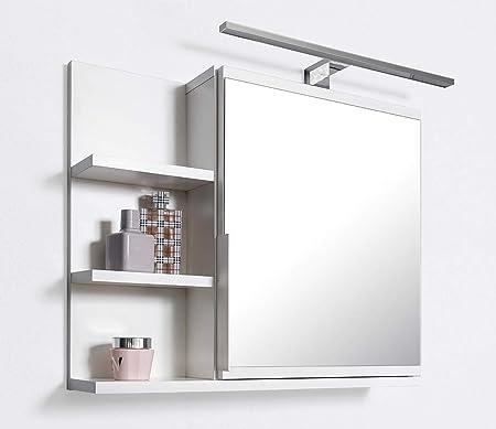 Domtech Armoire Miroir De Salle De Bain Avec Etageres Et