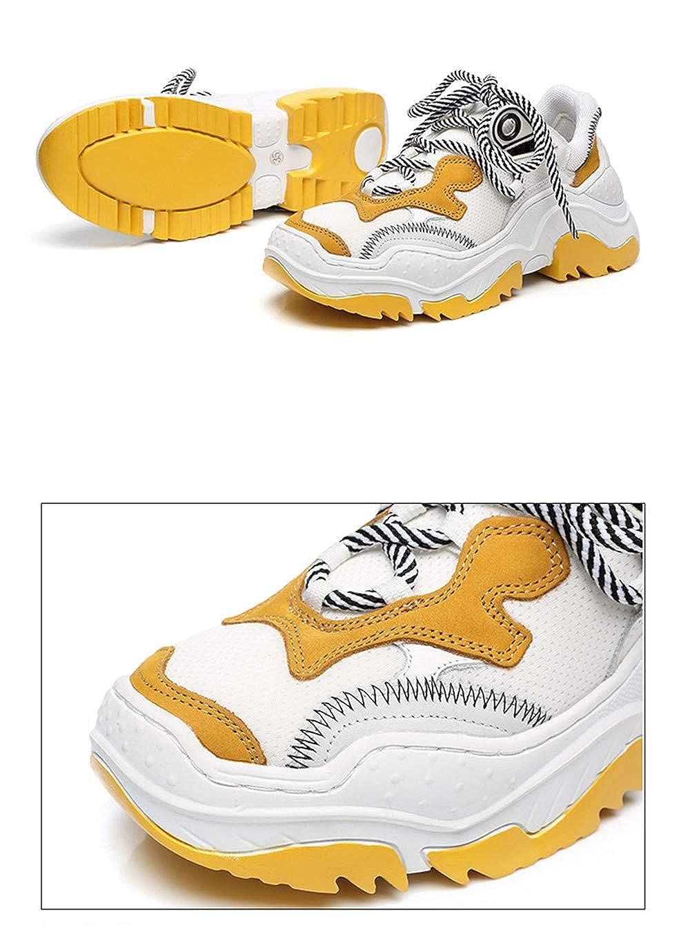 somethingoods Women Lace Up Platform Heels Sneakers Casual Shoes Increase Height Ladies Sneakers