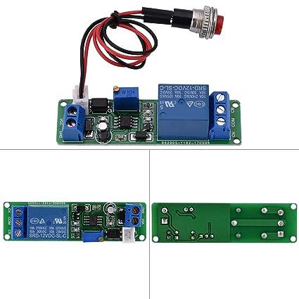 Hilitand 1pc DC 12V Temps r/églable Module de Commutation Module d/éclencheur /éteindre Le Module de temporisateur de Retard 0~25Seconds Time Delay