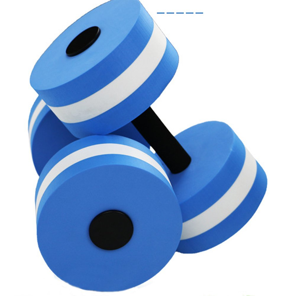 Neinei - Mancuernas de espuma para ejercicios aeróbicos de agua, resistencia al agua, para ejercicios de fitness, equipo para pérdida de peso, color verde, ...