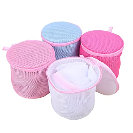 YAKEFJ - Bolsa de Sujetador para Lavadora (4 Colores), Bolsas de Malla para