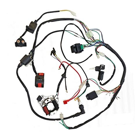 Amazon Com Zxtdr Full Wiring Harness Loom Kit Cdi Coil Magneto Kick
