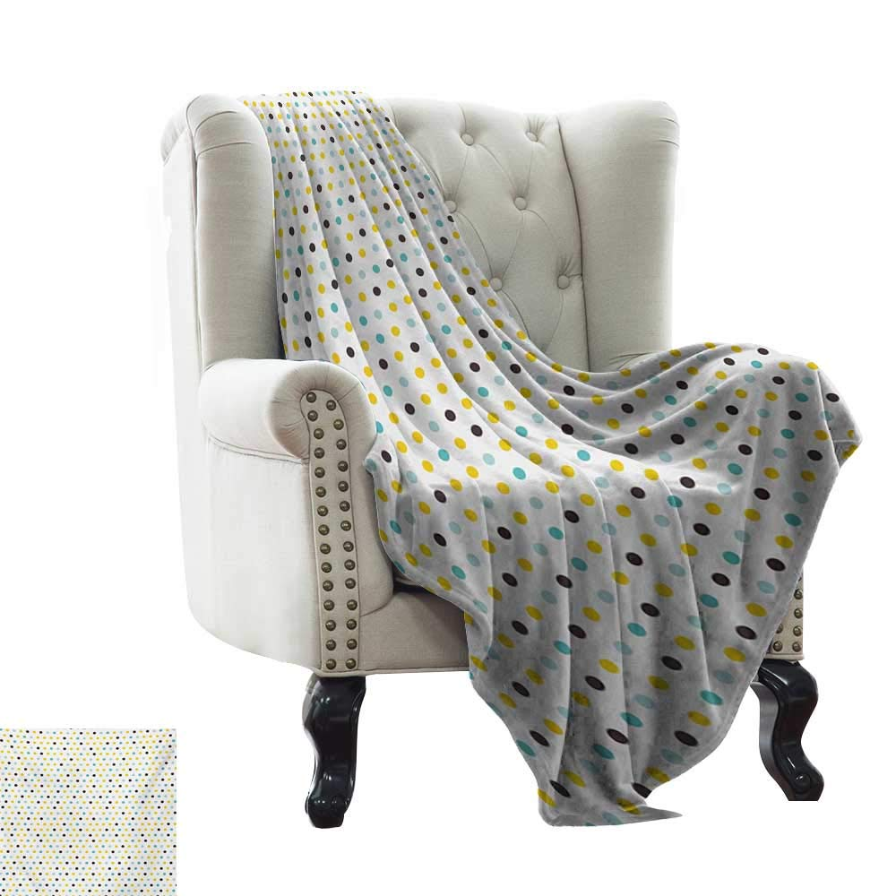 Anyangeight Kitchen,Digital Printing Blanket,Polka Dots Rounds Vintage Retro 58s 50s Themed Image 50''x30'',Super Soft and Comfortable,Suitable for Sofas,Chairs,beds