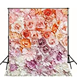 5x7 Digital Photography Backdrop Floral Bloom Photo Background for Wedding Hazy Flowers Baby Birthday Party Studio Props