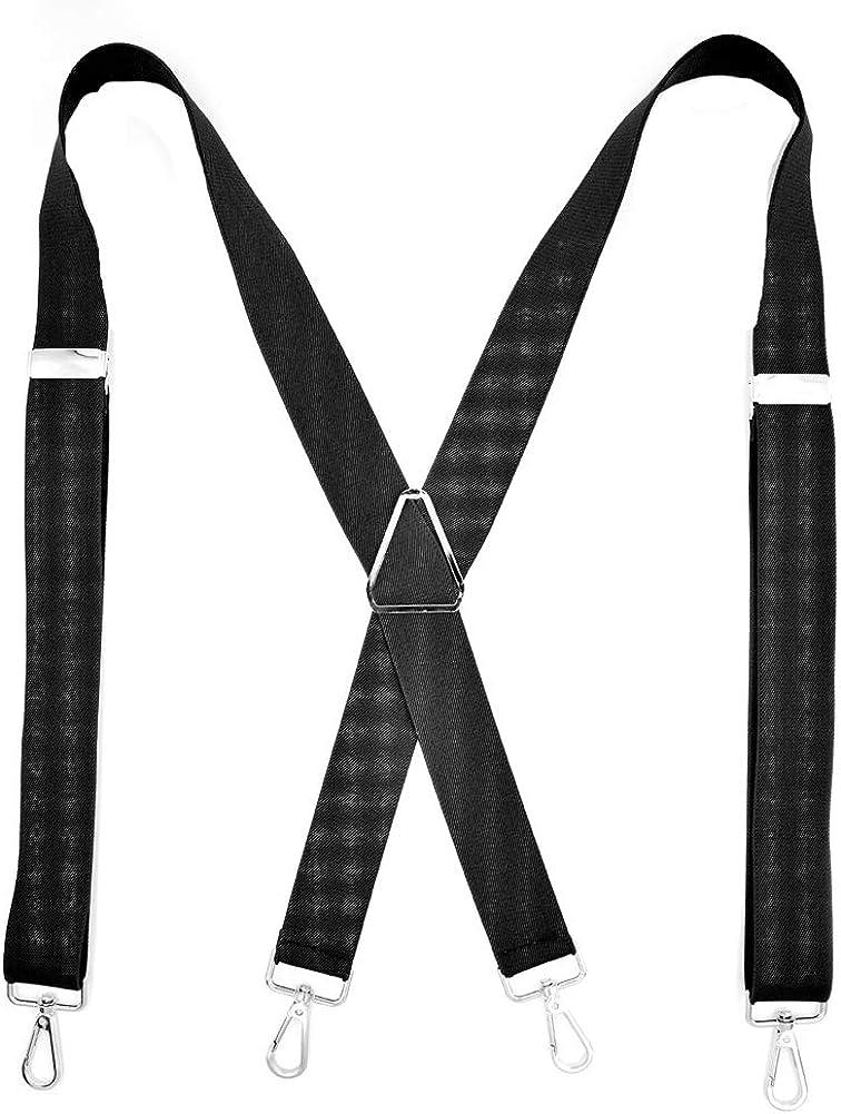 Tenchif Hombres Tirantes para hombres Anchos con 4 Pinzas Tirantes Elásticos: Amazon.es: Ropa y accesorios