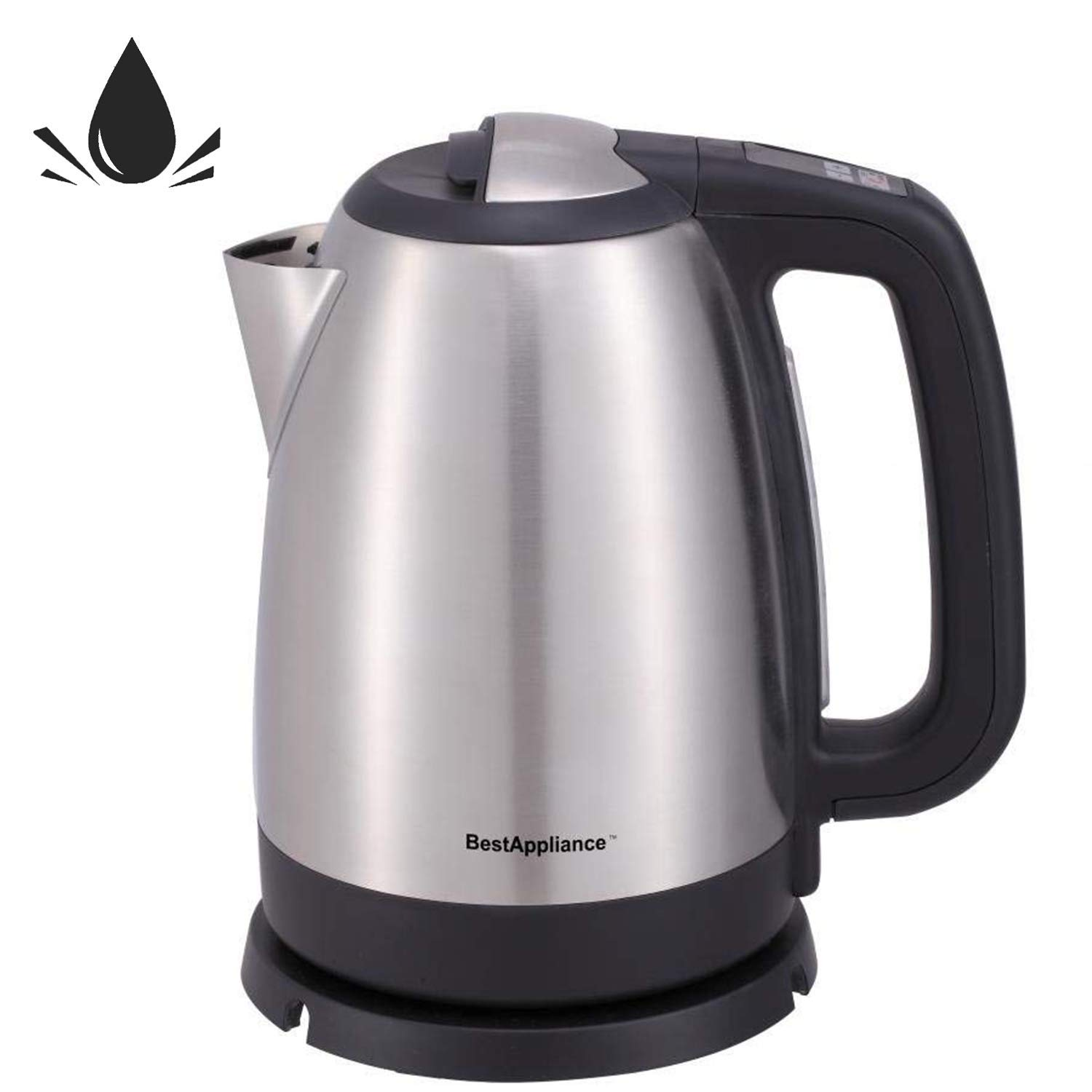 Electric Kettle Stainless Steel Fast Boiling Tea Kettle Cordless Water Kettle 1500W Electric Hot Water Kettle with Auto Shut-Off & Boil-Dry Protection Tea Heater1.7 Liter/ 1.8 Quart