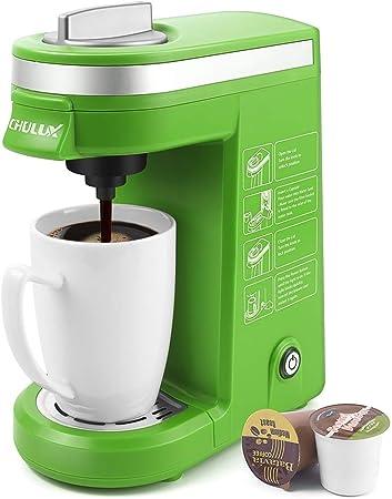 CHULUX Cafetera de porción individual con bandeja de goteo desmontable para K-taza Verde: Amazon.es: Hogar