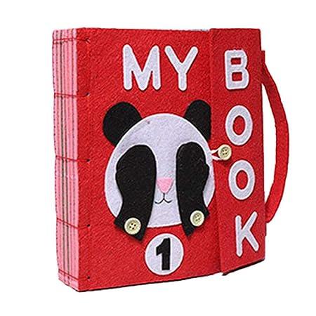 Libro de Aprendizaje Temprano para Niños Montessori Mi libro Tejiendo Tela Hecha a Mano Paquete de Material DIY Agitando Música Libro Local: Amazon.es: Bebé