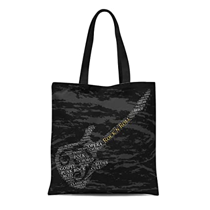 f57529144 Image Unavailable. Image not available for. Color: Semtomn Canvas Tote Bag  Acid Rock N Roll Word Cloud ...