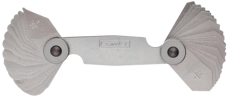 16 Leaves with Lock Nut Fowler 52-470-120 Steel Radius Gage