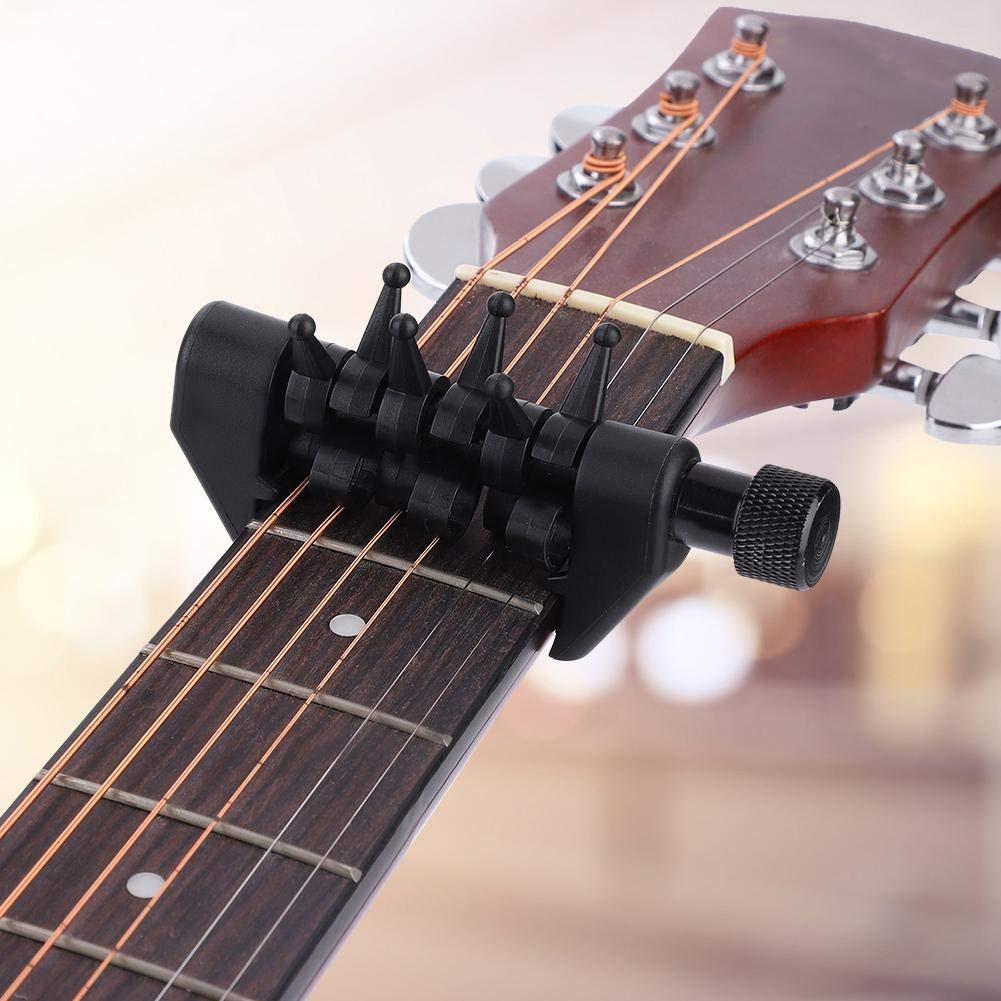Dilwe Guitarra Capo, Multifuncional Acorde Capo Individualmente Variable Afinando Simular Acordes Capo para Cuerda de Guitarra: Amazon.es: Deportes y aire ...