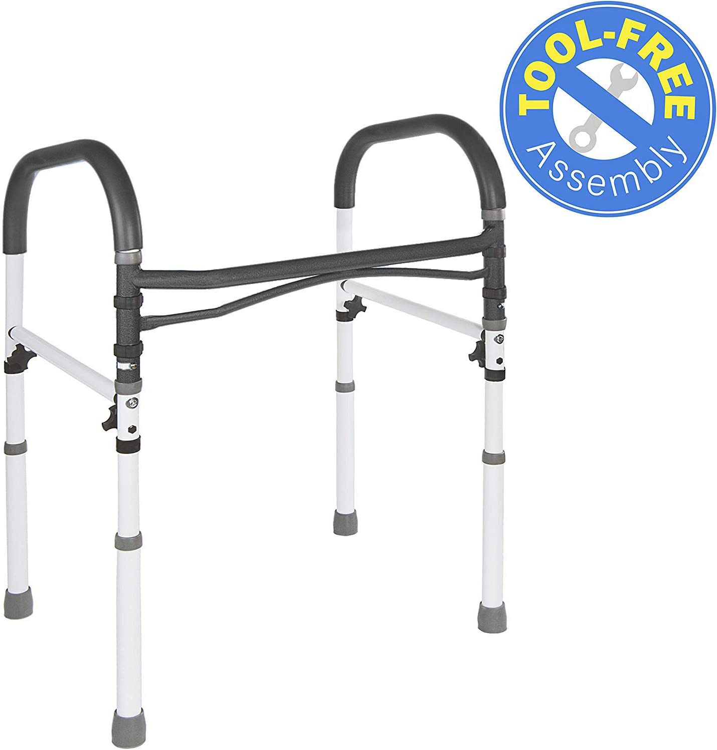 best toilet safety rails: Vaunn Deluxe Bathroom Safety Toilet Rail