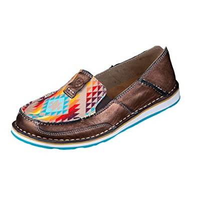 18c5f836f2b0 Image Unavailable. Image not available for. Color: ARIAT Copper Metallic  Rainbow Aztec Cruisers 7.5
