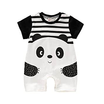 DEFAHN Baby Boy Girl Rompers Solid Infant Short//Long Sleeve Pajamas Unisex Cotton Creeper Outfit for 0-24 Months