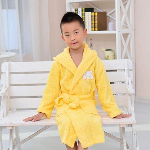 YPDM Bata,Albornoz Infantil Pijama Grueso de algodón para niños ...