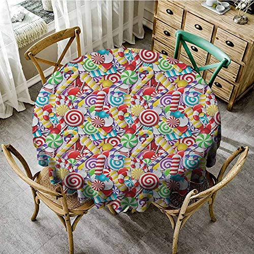 Round Tablecloth Nonslip 47