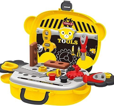 Juego de herramientas de juguete para niños, 19 piezas, accesorios de construcción en una caja resistente, juegos divertidos, juguete de Navidad para niños: Amazon.es: Hogar