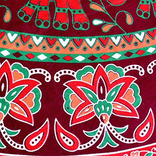 Maroon 40 D6 Skirt inch Sttoffa Print Block Wrap Length Size Free Skirt Rajasthani Around w7ndRqOd
