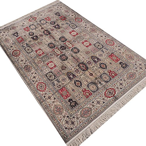 Camel Carpet Silk Hand Knotted Antique Persian Rug ()