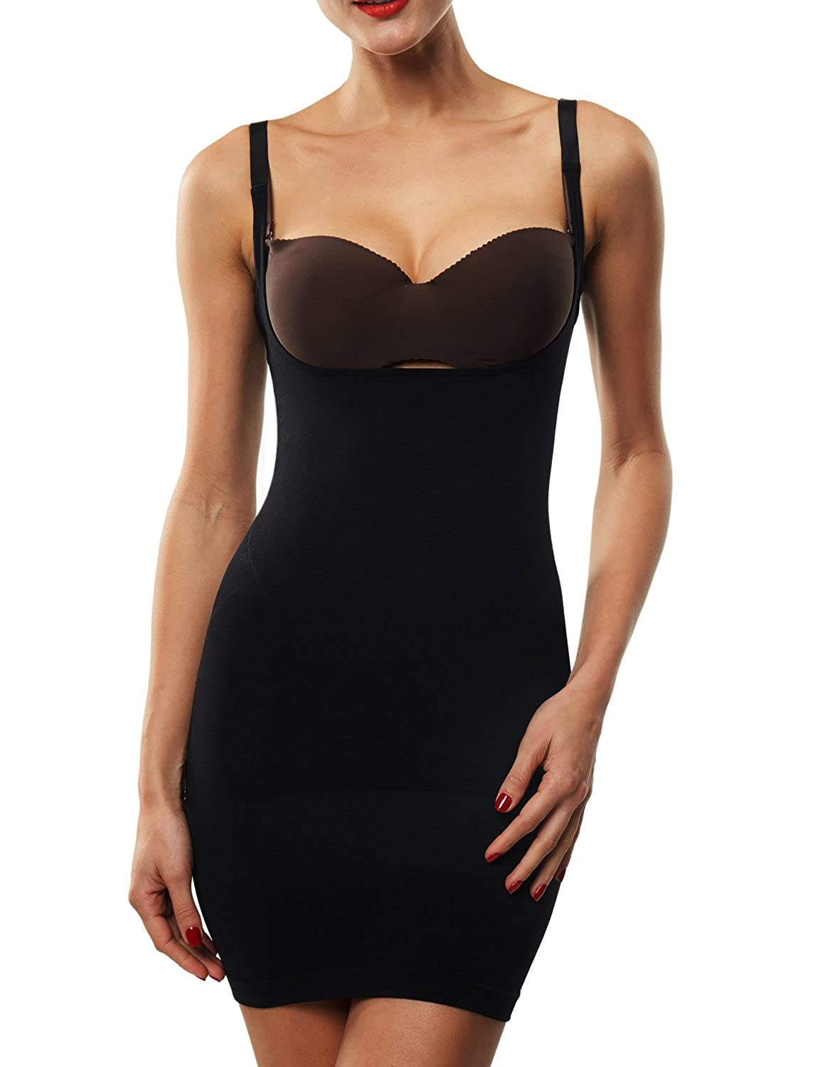 Franato Women's Shapewear Dress Control Slip Full Body Shaper Open Bust