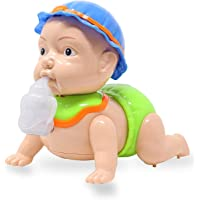 Zest 4 Toyz Runing and Weeping Naughty Baby Crawling Toy for Kids with Music and 3D Lights