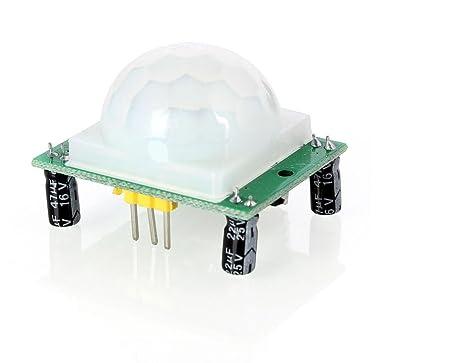 HaoYiShang HC-SR501 cuerpo humano piroeléctrico sensor de movimiento detector Módulo para Arduino